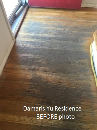 hardwood floor refinish photos before after
