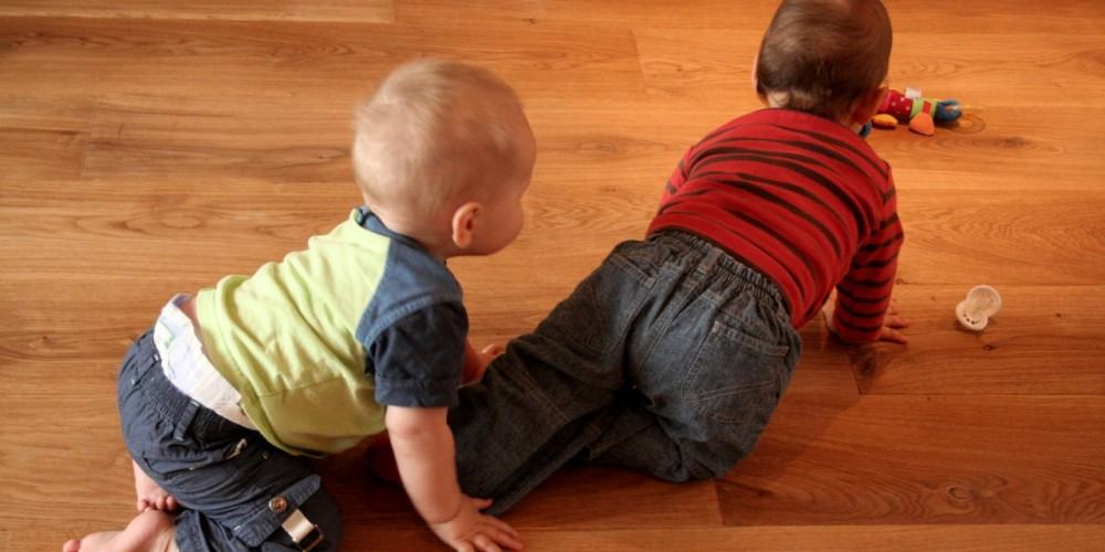Babies love wood floors, Advanced hardwood Flooring Inc., Long Island NY