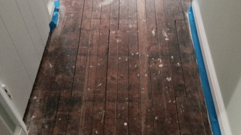 refinish hardwood floor long island NY BEFORE
