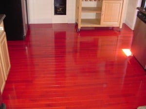 Cherry hardwood floor restore, Long Island NY