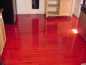 Cherry hardwood floor restore, Long Island NY