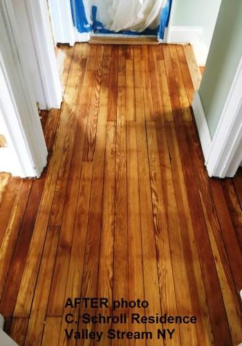 Hallway wood floors AFTER refinishing