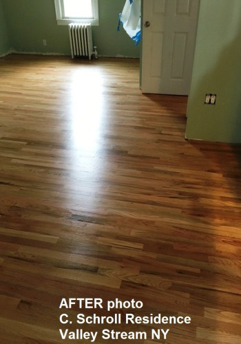 Bedroom wood floors AFTER refinishing.