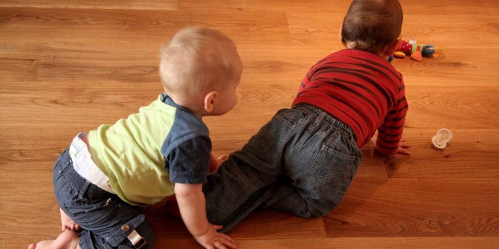 Babies love wood floors, Advanced hardwood Flooring Inc., Long Island NY