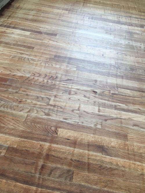 hardwood floor refinishing cheap job