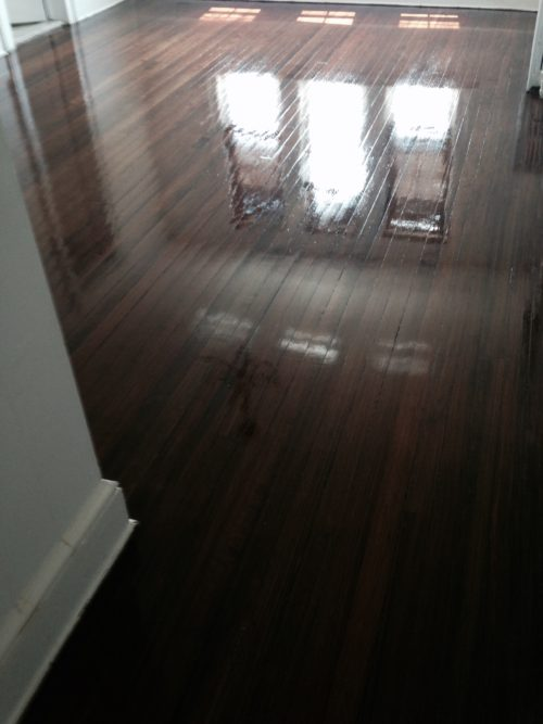 Hardwood floor job done right
