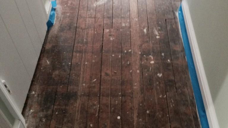 refinish hardwood floor long island NY BEFORE